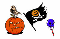 Tatuagem temporária Halloween 1 de Le Petit Pirate